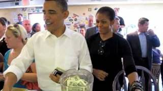 President & Michelle Obama visit the Asheville RAD & 12 Bones •  April 23, 2010