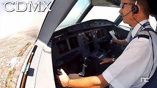 Aproximación y Aterrizaje Ciudad de Mexico Cabina de Pilotos - Interjet Airbus A320