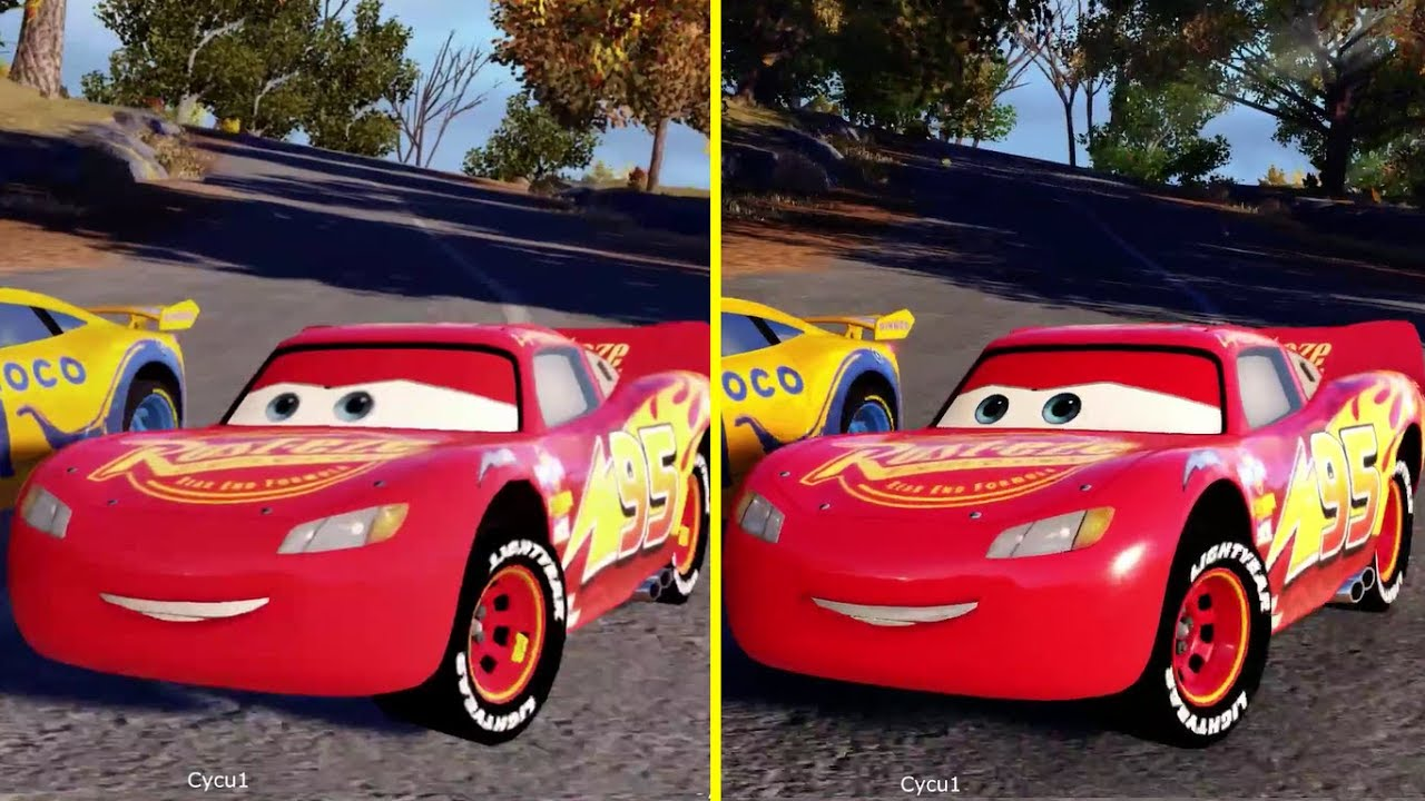 cars 3 driven to win nintendo switch vs xbox one s graphics