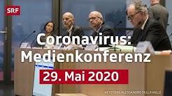 Medienkonferenz des BAG - 29. Mai 2020 | LIVE | SRF News