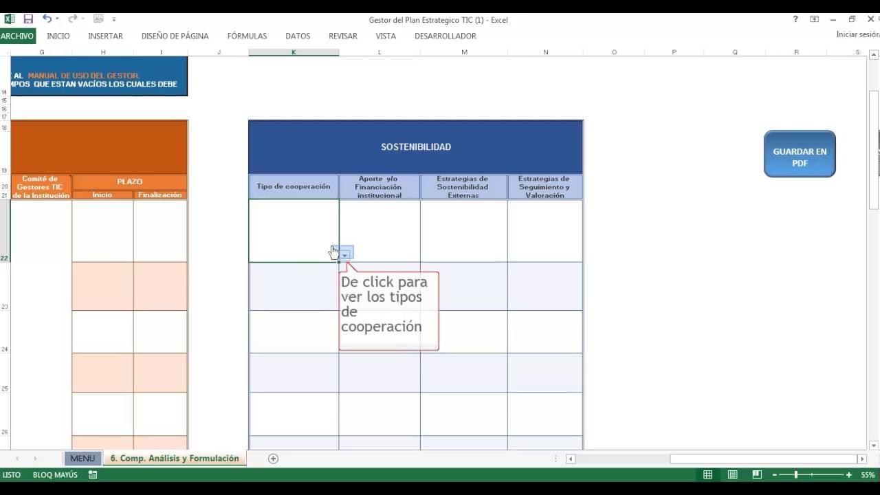 Vídeo Tutorial Gestor del Plan Estratégico TIC Capitulo 3 - YouTube