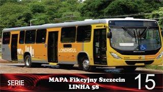 Mapa Fikcyjny Szczecin LINHA 58
