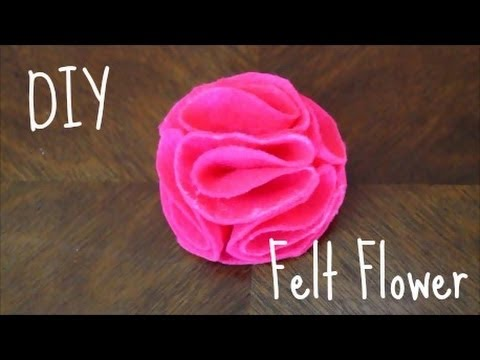 How To Make A Felt Flower Diy Tutorial Youtube