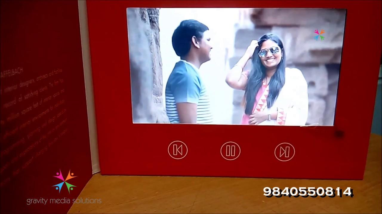 WEDDING VIDEO INVITATION ! NEW IDEA ! INDIA CHENNAI FOR BOOKING ...