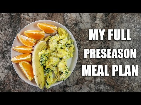 Full Day Of Eating | Preseason Double Day Meal Plan
