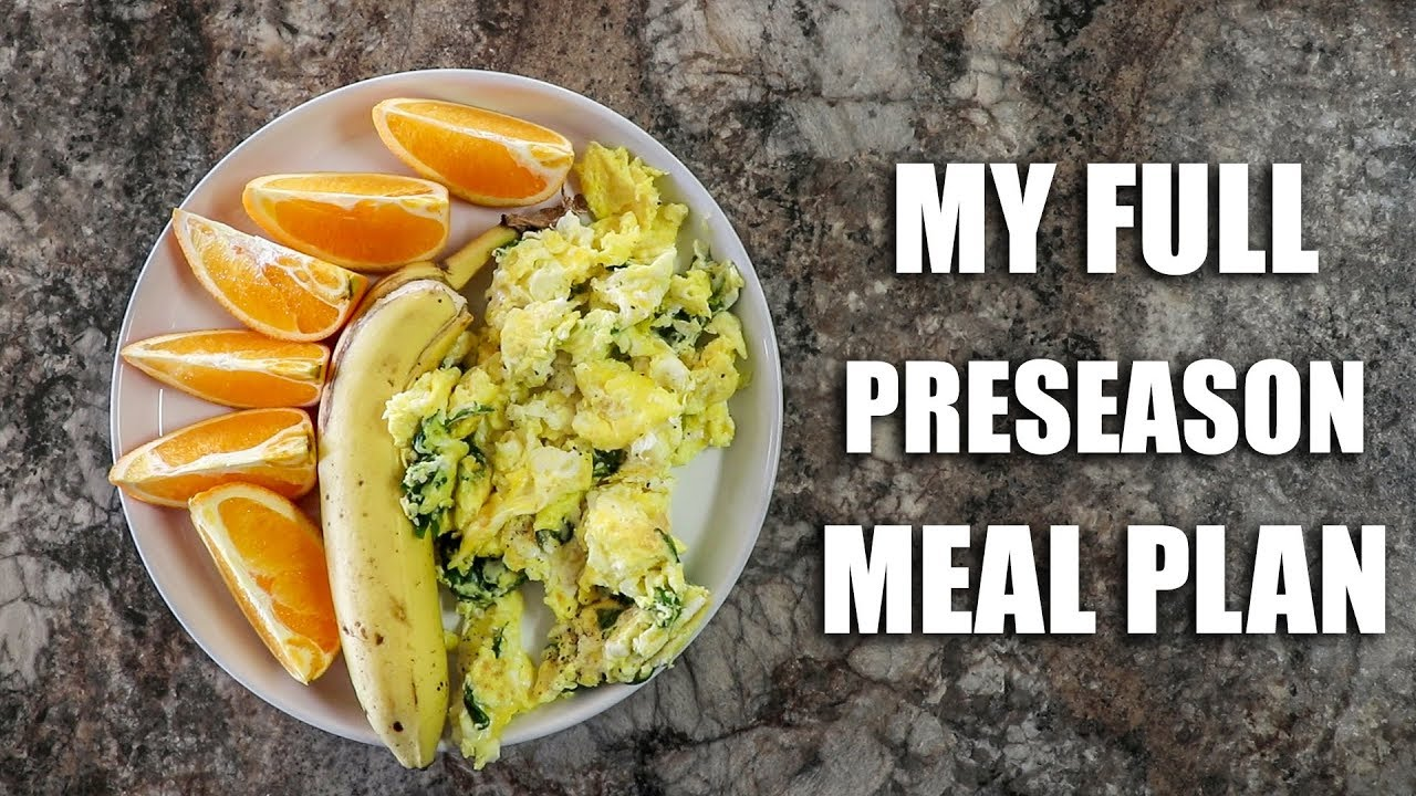 Full Day of Eating   Preseason Double Day Meal Plan