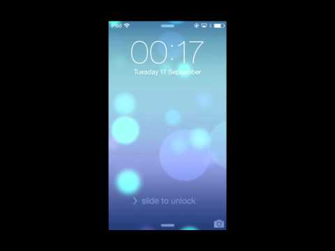 IOS7 With VoiceOver: Lock Screen