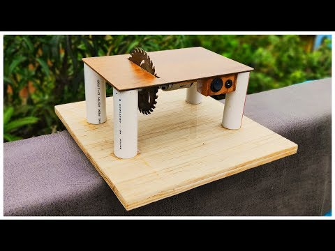 How to make a mini table saw at home