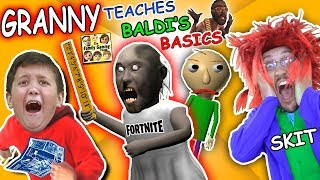 GRANNY the SCHOOL TEACHER! BALDI'S BASICS vs CRINGE TEACHER & FORTNITE (FGTEEV Skit)