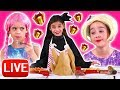 Christmas Live: Giant Presents, Tree Decoration & More - Princesses In Real Life | Kiddyzuzaa