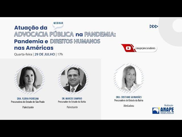 Webinar ANAPE #3 - Atuação da Advocacia Pública na Pandemia: os constitucionalistas