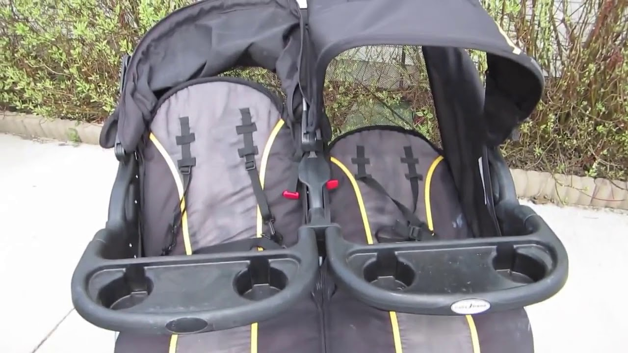 Baby Trend Navigator Lite Double Jogger Stroller - YouTube