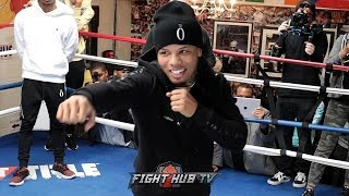 GERVONTA TANK DAVIS SHAKES OUT, SHADOW BOXES DAYS AWAY FROM HUGO RUIZ FIGHT