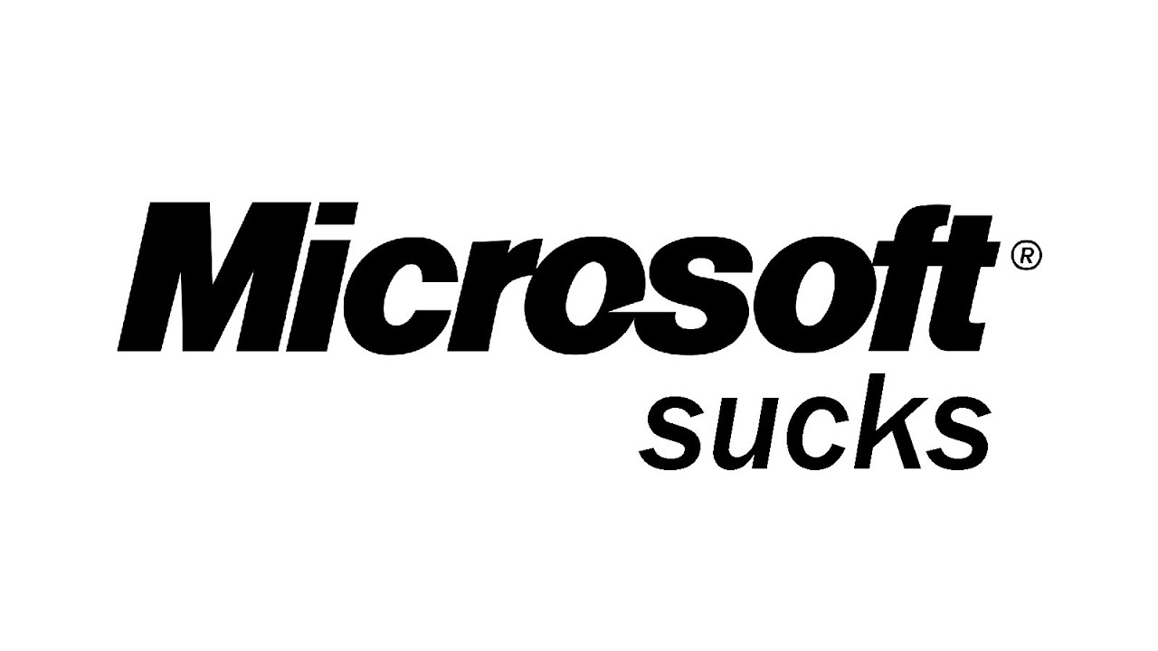 microsoft sucks youtube