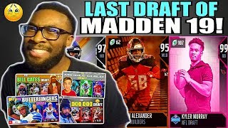ONLY USING DRAFTS I'VE DONE THIS YEAR TO DRAFT A TEAM! LAST DRAFT OF MADDEN 19!