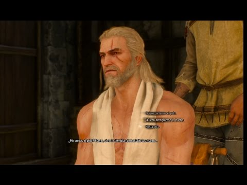 the witcher 3 - afeitarse barba - cambiar de peinado - youtube