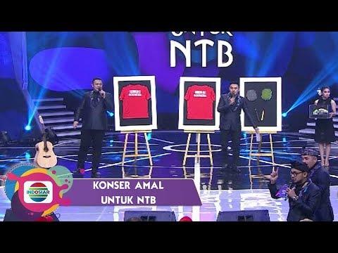 MANTAP!!Kaos dan Raket KEVIN-MARCUS Terlelang 550 JUTA RUPIAH   Konser Amal Untuk NTB