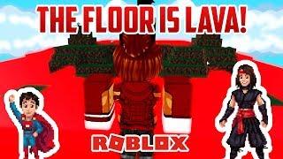 LE SOL EST DE LA LAVE ! Roblox Lava Escape (en)