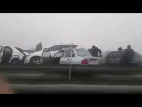 Страшная массовая авария в Иране !!! 24.03.2017 Столкнулись более 130 автомобилей !!!