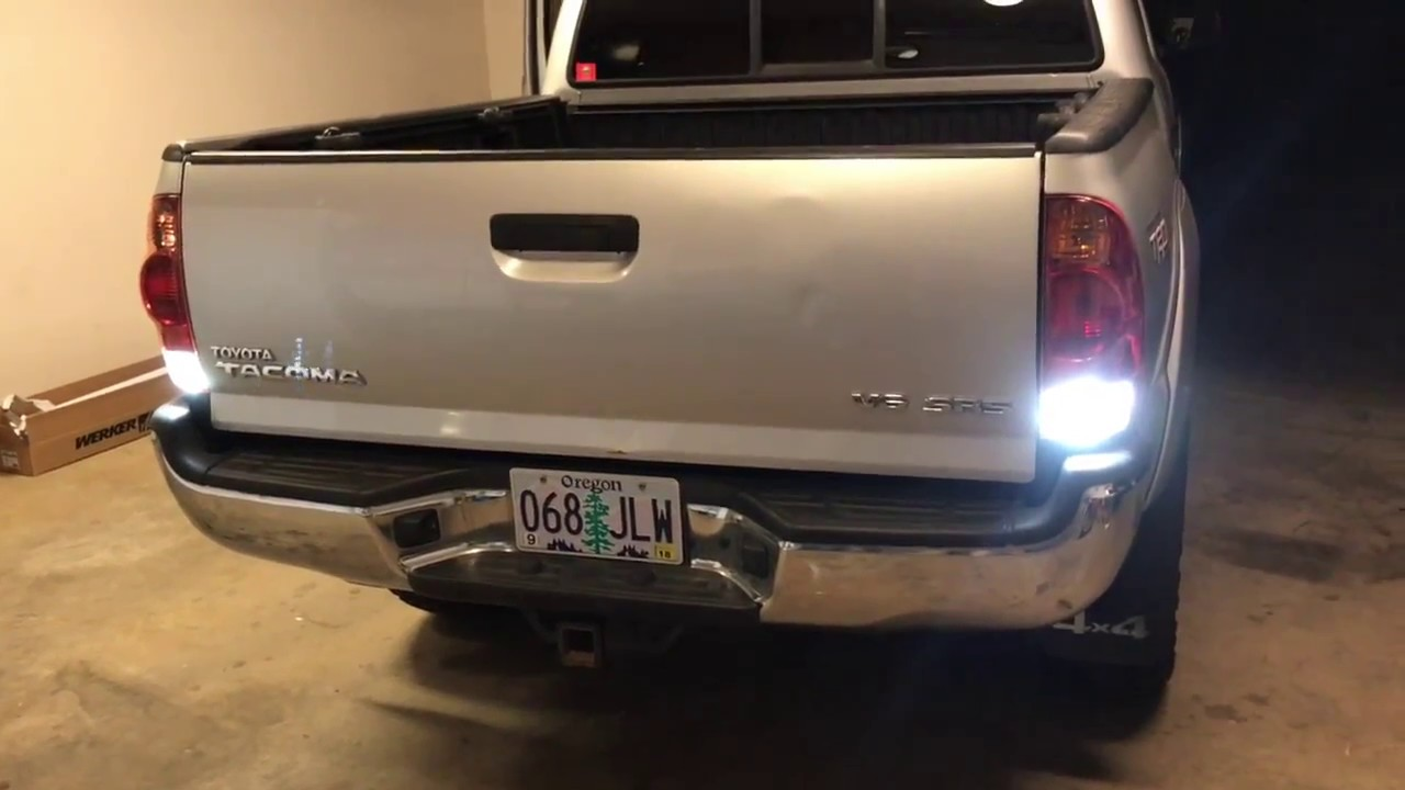 Tacoma Backup Lights Led Install