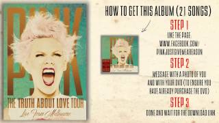 Baixar P!nk - Try (The Truth About Love Tour Live From Melbourne)