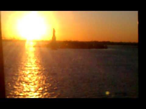Manhattan Sun Set and on Norweigan Gem 11/6/2011