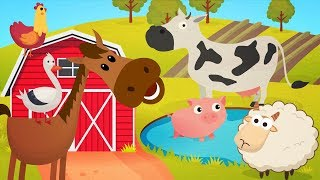 Animal Sounds Song | Farm animals name and sound | + More Super Simple Songs for Kids