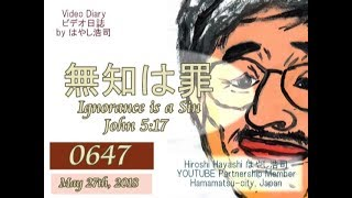 0647 Video Diaryビデオ日誌「汝自身を知れ+無知の知(ソクラテス)」+謎のニスロッチby はやし浩司Hiroshi Hayashi, Japan thumbnail
