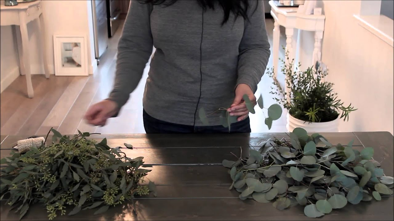 Diy Eucalyptus Garland Youtube