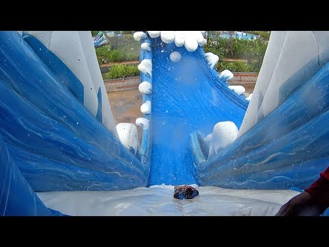 Jumping Water Slide at Pantai Norasingh Water Park