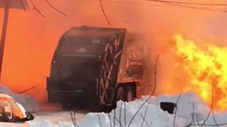 Here's What An Exploding Garbage Truck Looks Like | What's Trending Now
