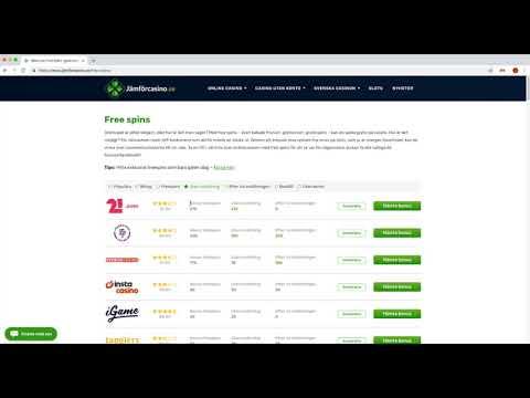 Freespins hos Jämförcasino.se