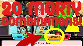 Pocket Mortys - 20 Combinations! Amazing New High Level Mortys + Using New Mortys!