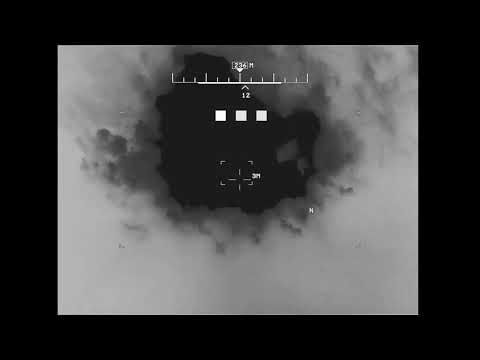 Drone footage shows drone air strikes on Taliban militants in Farah province