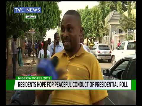 Abuja residents hope for peaceful conduct of polls