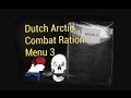 RARE Dutch MRE Tasting: Arctic Combat Ration Menu 3 -- Eating Freeze Dried Military Food
