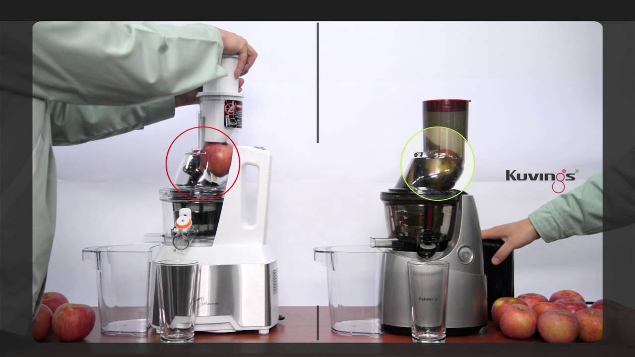 Optimum 600 vs Kuvings B6000 Whole Slow Juicer - YouTube