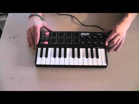tech review akai mpk mini laptop production midi keyboard youtube. Black Bedroom Furniture Sets. Home Design Ideas