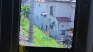 東武アーバンパークライン(東武野田線) 江戸川橋梁 耐震補強工事 前方右側車窓