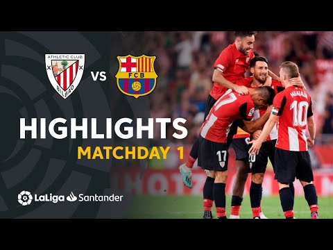 Highlights Athletic Club Vs FC Barcelona (1-0)