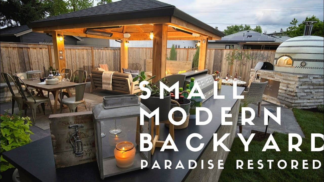 Small Modern Backyard Youtube