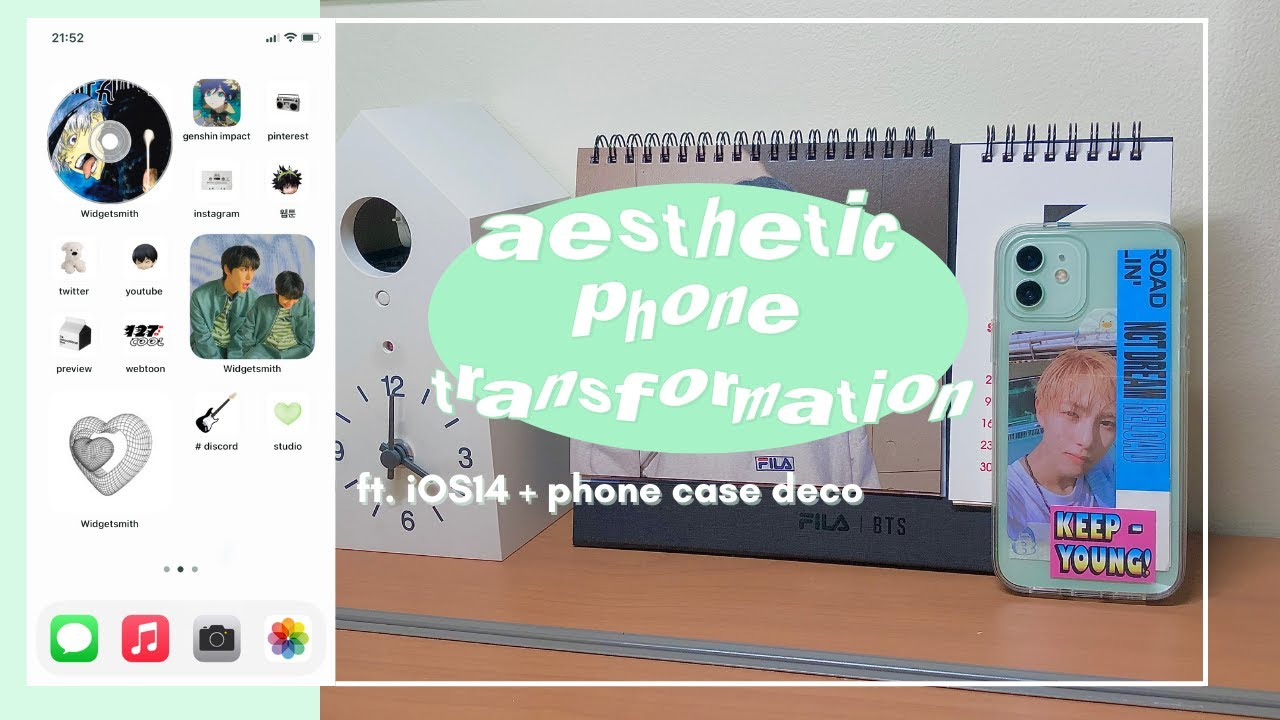 anime/kpop phone transformation [ ft. ios 14, phone case deco + what's on my iphone 12 ]