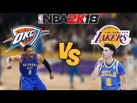 NBA 2K18 - Oklahoma City Thunder vs. Los Angeles Lakers - Full Gameplay