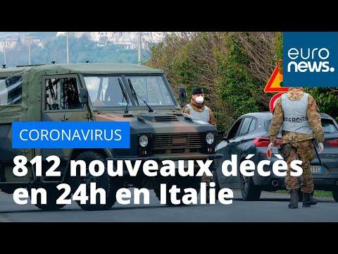 #Coronavirus: 812 nouveaux décès en 24h en Italie, le confinement prolongé