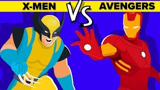 X-Men VS Avengers: Who Wins The Marvel Fight To The Death Tournament - Funny Animation