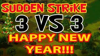 Sudden Strike forever multiplayer 3 vs 3. The best old school strategy. No comments
