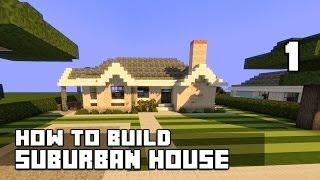 Minecraft how to build modern suburban house tutorial for Minecraft big modern house tour