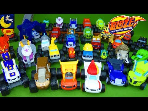 LOTS of Blaze and the Monster Machines Toys Diecast Race Cars Wild Wheels Animals Crusher Pickle Toy