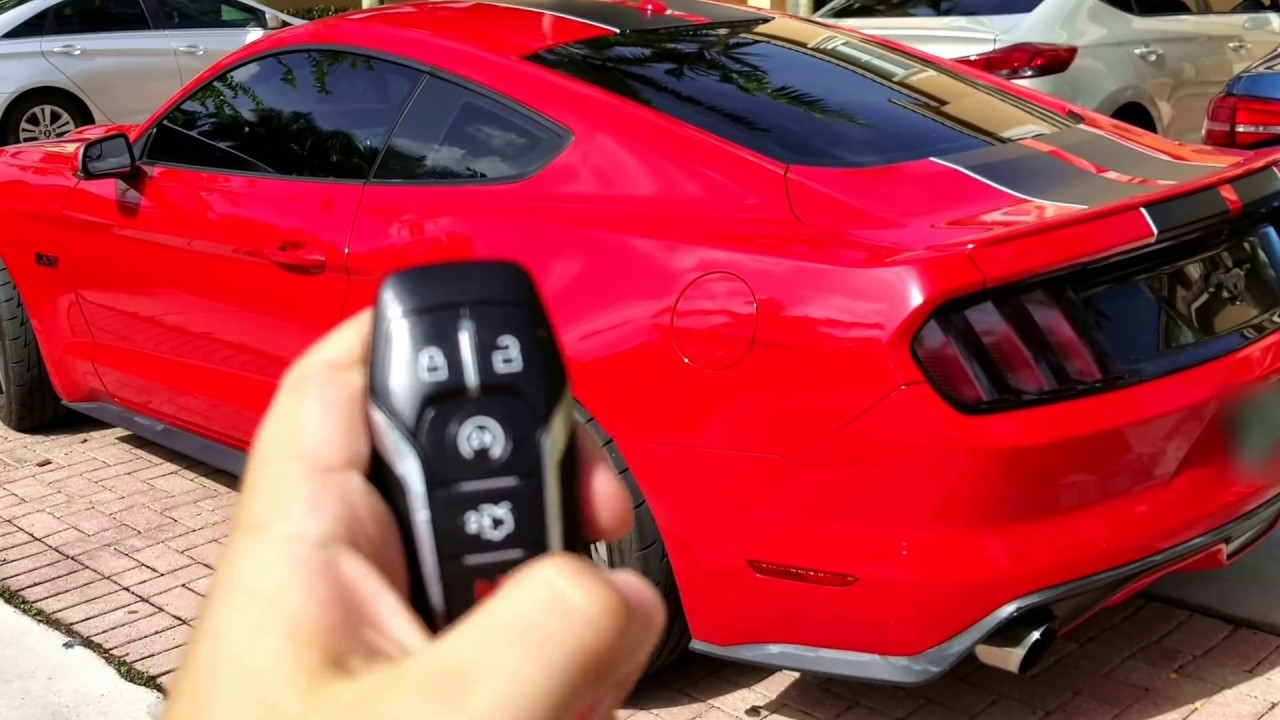 2016 Mustang Keyless Features