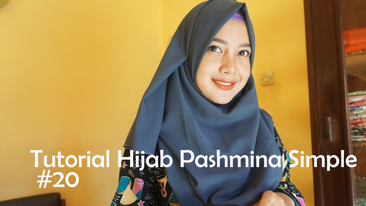 Tutorial Hijab Pashmina Simple 20 Indahalzami YouTube